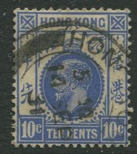 Hong Kong - Scott 137 - KGV - Definitive - 1921 - Used - Single 10c Stamp