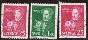 Sweden # 707 - 709 U