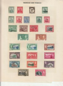 TRINIDAD AND TOBAGO 3 ALBUM PAGE  VALUES MOSTLY 1937-55, MOUNTED MINT