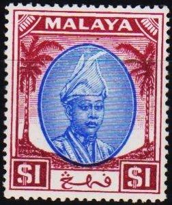 Malaya(Pahang). 1950 $1 S.G.71 Mounted Mint
