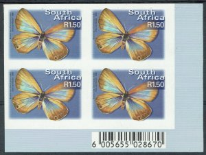 SOUTH AFRICA 2000 BUTTERFLY R1.50 IMPERF BLOCK MNH **