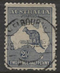 Australia - Scott 46 -Kangaroo -1915 - FU - Wmk 10 -  2.1/2d Stamp2