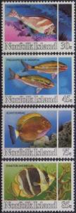 Norfolk Island 1984 SG334-337 Reef Fish set MNH