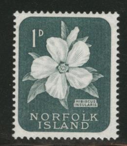 Norfolk Island Scott 29 MH* Hibiscus flower 1960 stamp