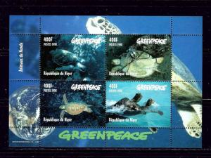 Niger 976a MNH 1998 Greenpeace S/S