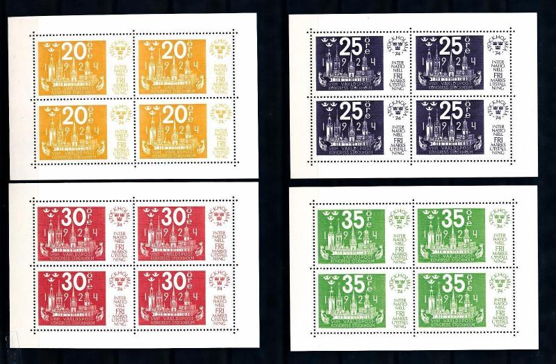 [50135] Sweden 1974 World congress Fish MNH Sheets