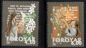 (CMA) Faroe Islands Scott #387-88 MNH Complete Set
