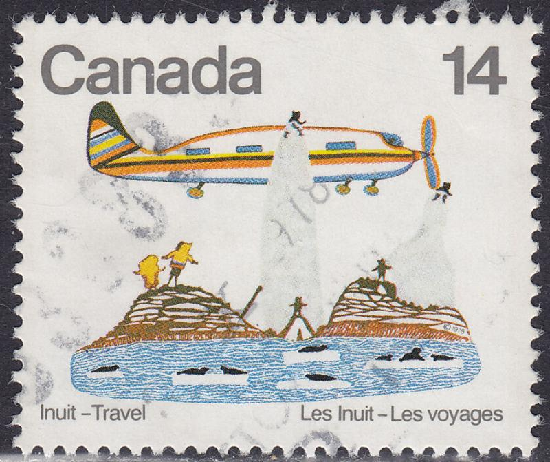 Canada 771 USED 1978 Inuit Indian Travel, Art 14¢