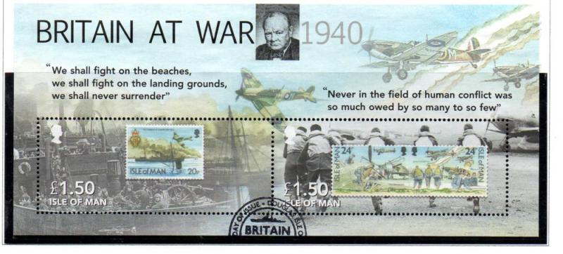 Isle of Man Sc 1368 2010 Battle of Britain stamp sheet used