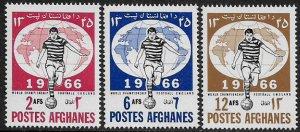 Afghanistan #727-9 MNH Set - World Cup Soccer