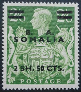 British Forces in Somalia 1950 GVI Two Shillings Fifty opt SG S30 mint