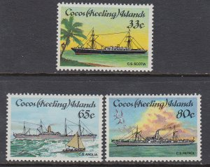 Cocos Keeling Islands 129-131 Ships MNH VF