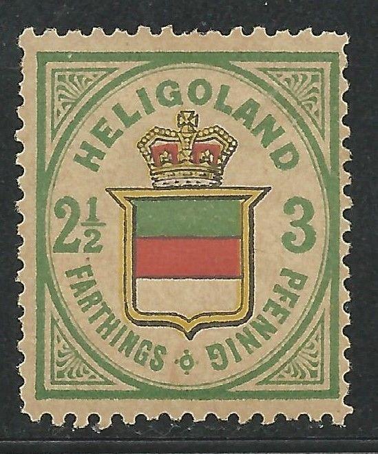 German States Heligoland Scott #20 Mint Hinged Sound Stamp