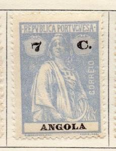 Angola 1922 Early Ceres  Issue Fine Mint Hinged 7c. 139711