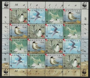 Croatia Birds WWF Little Tern Sheetlet of 4 sets SG#854-857 MI#774-777 SC#621