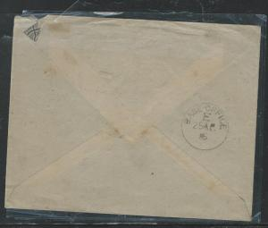 BRITISH EAST AFRICA (P2903B) 1915 OAS STAMPLESS CENSORE B/S BASE OFFICE E