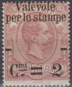 Italy #60 Fine Unused CV $65.00 (A12761)