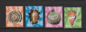 SHELLS - MALDIVES #2693-6  MNH