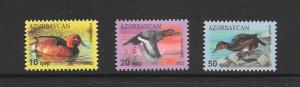 BIRDS - AZERBAIJAN #995-97  MNH