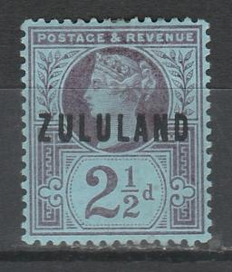 ZULULAND 1888 QV GREAT BRITAIN  21/2D