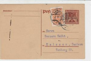 Austria 1923 Linz Cancel to Tonberg 23  Stamps Card ref R 19514