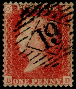 SG40, 1d rose-red PLATE 48, LC14, FINE USED. Cat £18. BD