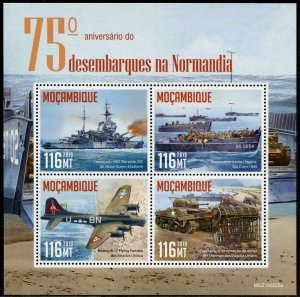 MOZAMBIQUE 2019 75th ANNIVERSARY OF THE NORMANDY LANDING D-DAY SHEET MINT NH