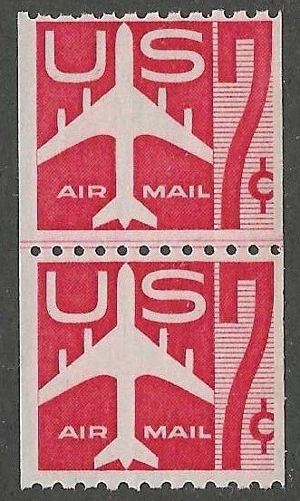 United States  Scott C61  MNH  Line pair