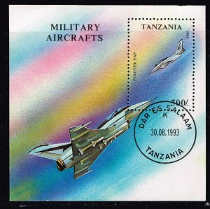 TANZANIA STAMP 1993 Military Aircraft MNH crease