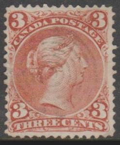 Canada Scott #25 Stamp - Cat $40 - Used Single
