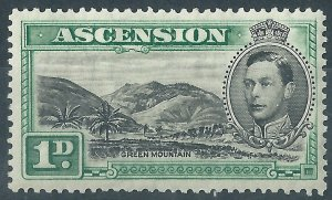 H441) Ascension Island. 1938/53. MM. SG 39 1d Black & green. cv£45+.