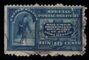 US SCOTT #E2 USED SPECIAL DELIVERY W/RUFF PERFORATION VF