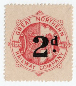 (I.B) Great Northern Railway : Parcel Stamp 2d