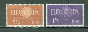 IRELAND 1960 EUROPA SCARCE #175-76...SET...MNH...$47.50