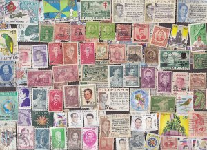 100 All Different  PHILIPPINES STAMPS