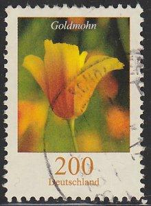 Germany, Used Flower Definitive, Sc. no. 2412, 200c hi value