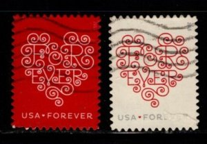 #4955 - 4956 Love Hearts set/2 - Used