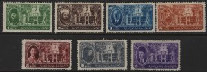EGYPT 258-264   MINT HINGED KING FAROUK AND PALACE CAIRO SET 1946