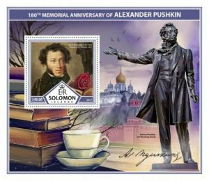 Solomon Islands - 2017 Alexander Pushkin - Souvenir Sheet - SLM17312b