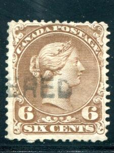 Canada #27 Used F-VF - Lakeshore Philatelics lsp27h