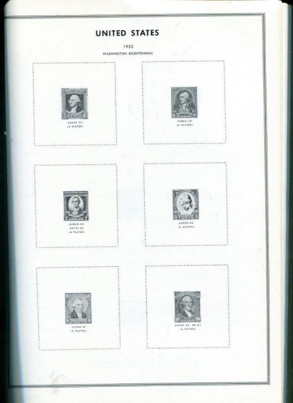 US  Plate Block Album. H.E. Harris Book A. 1901-1963. Includes Airmail etc. NEW.
