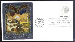 UNITED STATES FDC 13¢ Carl Sandburg 1978 Ross Foil