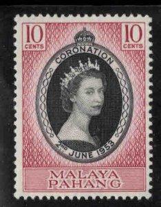 MALAYA-Pahang Scott 71 MH* 1953 Coronation stamp