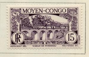 Middle Congo 1933 Early Issue Fine Mint Hinged 15c. 324744