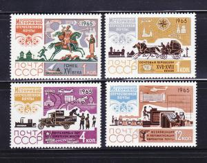 Russia 3098-3099, 3101, 3103 MNH History of the Post