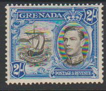 Grenada  GVI SG 161a perf 13½ x 12½  lightest mounted mint