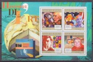 2011 Guinea 8834-37KL History of Art - Pop Art 16,00 €
