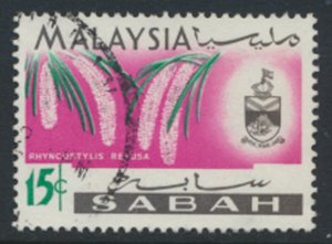 SABAH SG 429  SC# 22 Used Flower  see scans /details