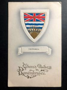 1921 Royal Oak Canada Picture Postcard cover Gladness Remembrance