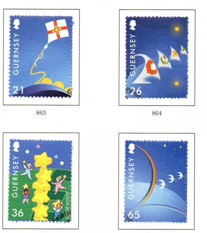 Guernsey Sc 709-12 2000 Europa stamp set used